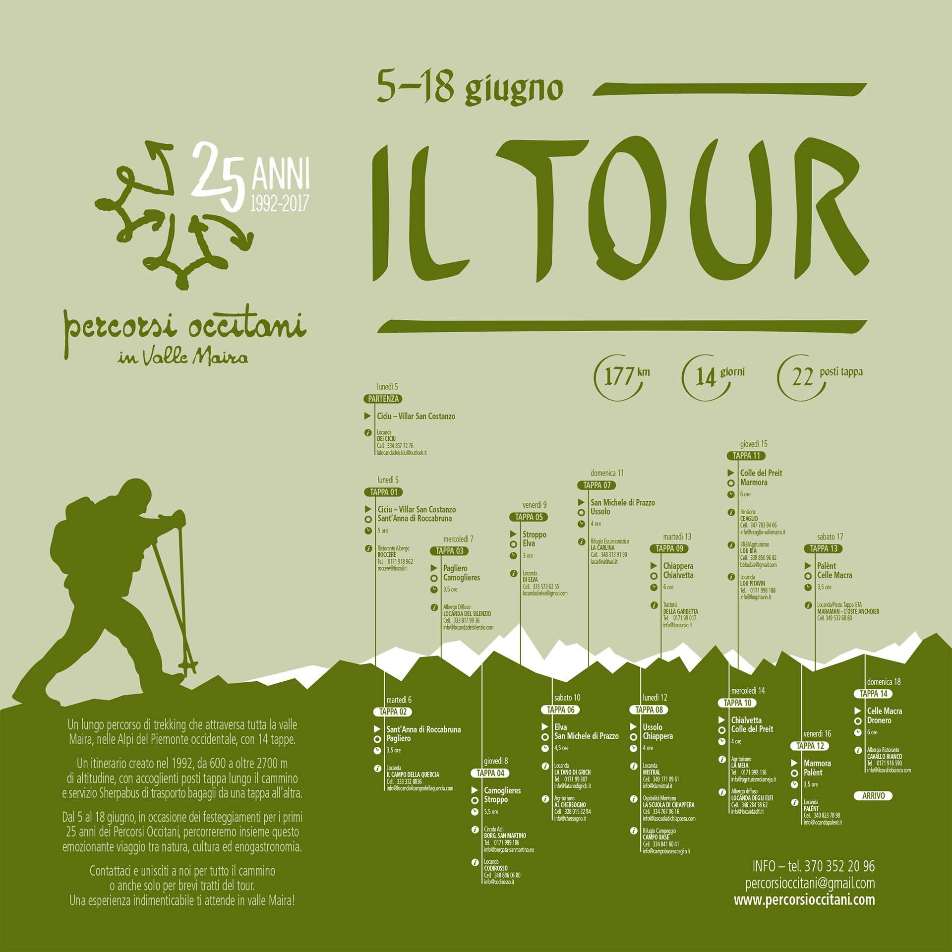 5 - 18 giugno Percorsi Occitani, il Tour